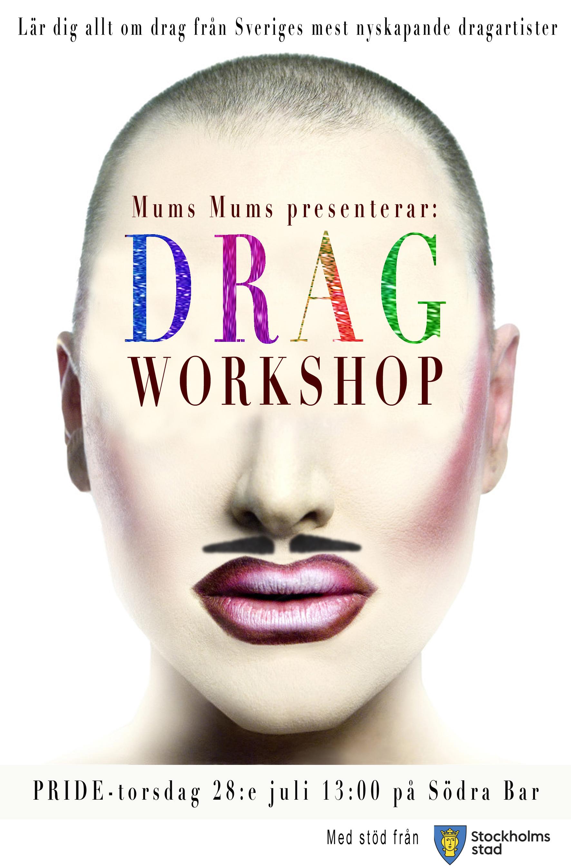 drag workshop flyer STÖD