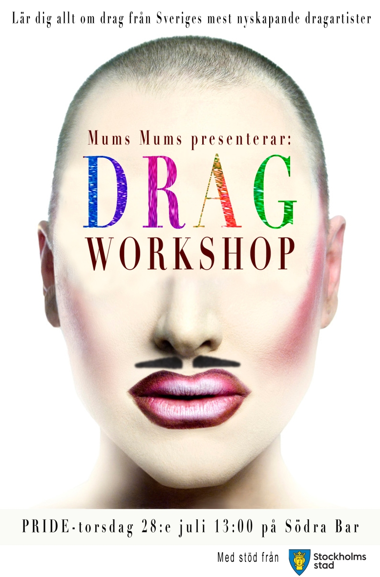 drag workshop flyer STÖD