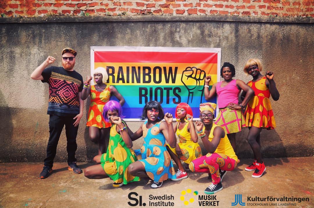 rainbow riots festival flyer